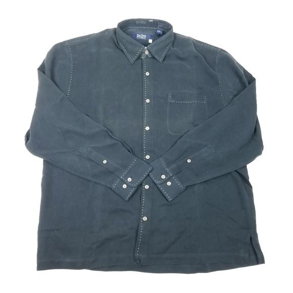 35004956 Nat Nast Shirts   Mens Shirt Size Large 100 Silk Black   Poshmark